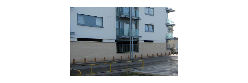 Poorly designed under-croft parking creates dead fronts and divorces the building from activities on the street