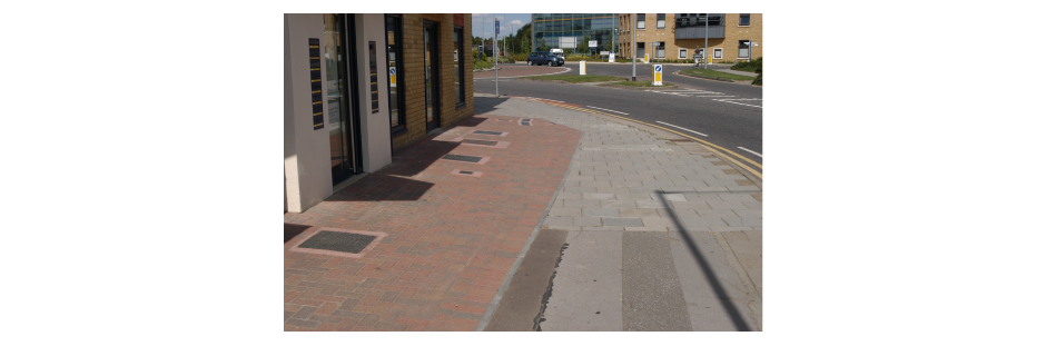 What not to do: plot demarcation ignoring the existing footway creates a disjointed public realm