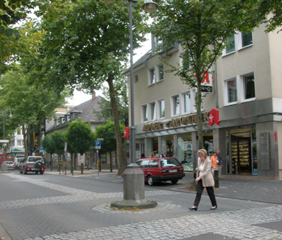 Successful mixed-use street, Hennef, Germany